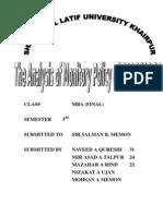 Monetory Policy of SBP 06 & 07 Analysis