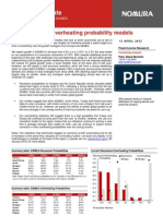 Hodnocení pravděpodobnosti recese v Česku (dokument v AJ, výtah)