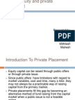 Private Equity and Private Placement