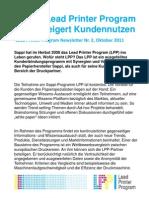 Sappis Lead Printer Program (LPP) Steigert Kundernnutzen