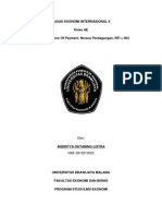 Analisis Neraca Perdagangan Dan Pembayaran Terkait Perdagangan Dan Kondisi Ekonomi Internasional