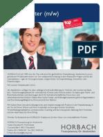 Stellenanzeige Finanzberater 2012 Rolf Schmitz