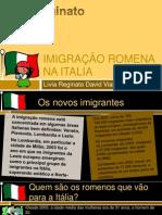 IMIGRAÇÃO ROMENA NA ITÁLIA