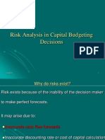59107462 Risk Analysis in Capital Budgeting Decisions