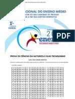Simulado _ Exame Nacional do Ensino Médio 2012