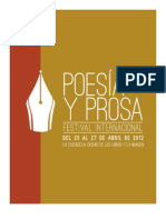 Convocatoria Festival Internacional de Poesía