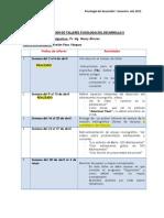 PLANIFICACIÓN DE TALLERES PSICOLOGÍA DEL DESARROLLO II
