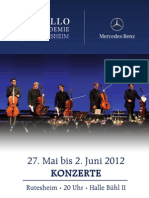 Flyer für die Konzerte der Cello Akademie Rutesheim 2012