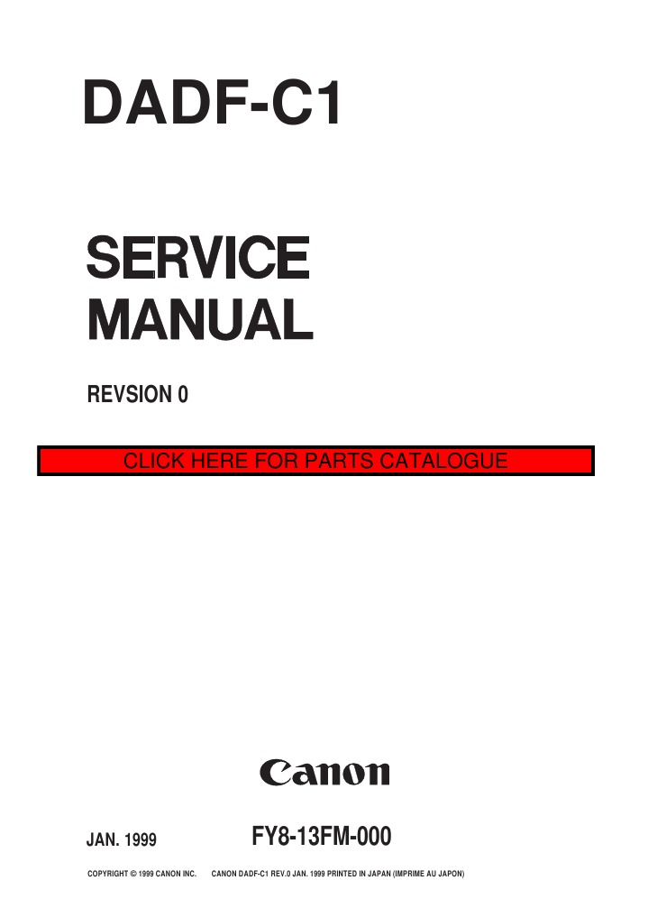 canon dadf c1 service manual ingles photocopier power supply rh scribd com Canon Repair Manuals Owners Manual Canon