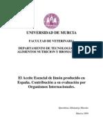 Estudio Fisicoquimico del Aceite Esencial de limón producido en España