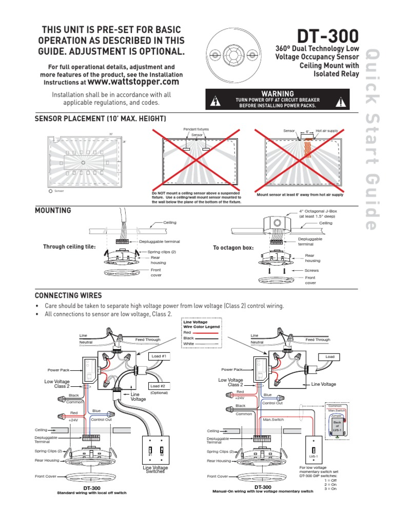 (os) ceiling model dt 300 wattstopper | switch | relay