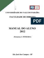 Manual_aluno_2012 Curso de Direito