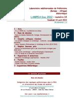 LAMPEA-Doc 2012 - numéro 14 / Vendredi 13 avril 2012