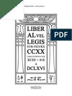 Aiwass Liber AL Vel Legis Svb Figvra CCXX O Livro Da Lei Versao 1.1