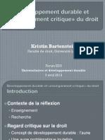 Forum EDS 2012 - Kristin Bartenstein