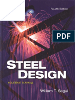 Steel Design Solution Manual - 4th Ed - Segui