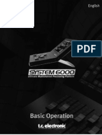 TC Electronicas System 6000 - Quick Guide
