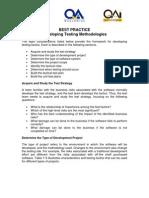 Developing Testing Methodologies