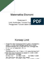 Matematika Ekonomi-pertemuan6