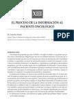 EL PROCESO DE LA INFORMACIÓN AL PACIENTE ONCOLÓGICO