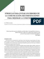 FÓRMULAS PARA EVITAR LOS ERRORES DE LA COMUNICACIÓN