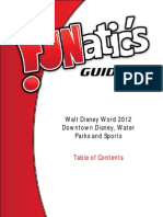FUNatic's Guide to Walt Disney World 2012 - Downtown Disney Water Parks and Sports Sample Table of Contents