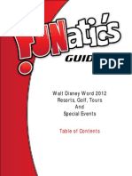 FUNatic's Guide to Walt Disney World 2012 - Resorts Golf Tours and Special Events Sample Table of Contents