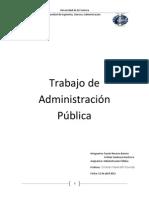 Trabajo de Administración Pública