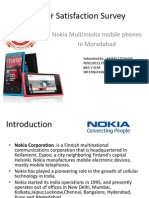Consumer Satisfaction Survey of Nokia Mobile Phones