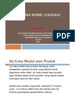 Uji Coba Model Validasi r&d