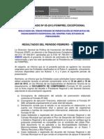 Comunicado 05 FONIPREL Excepcional Publicacion Resultados 3er Periodo
