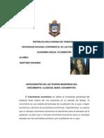 ANTECEDENTES DE LAS TEORÍAS MODERNAS DEL CRECIMIENTO