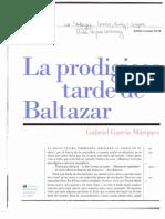 La Prodigiosa Tarde de Baltazar -- Garcia Marquez
