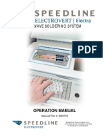 Electrovert Electra Operation Manual