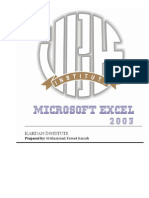 Microsoft Excel Notes