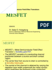 Chapter 5-Metal Semiconductor FET (MESFET)
