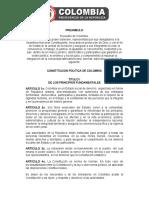 Constitucion Politica de Colombia 1991 Actualizacion 2008