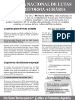 Panfleto Jornada de Lutas - Abril 2012 - MST