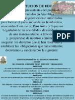 Constitucion de La Republica de 1839