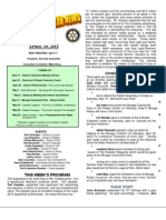 Moraga Rotary Newsletter -- April 102012