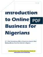 Introduction to Online Business for Nigerians by Aweriale Eromosele