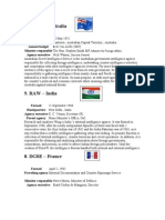 Top 10 intelligence agencies