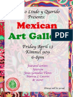 Mexican Art Gallery Flyer