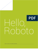 Roboto Specimen Book