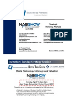 Silverwood Partners - NAB 2012 - Strategic Industry Analysis