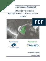 Estudio de Impacto Ambiental Ex Ante Petrocomercial Isabela