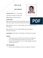 Bio-Data ( DR.P.K.Sharma) as on 27th March, 2012