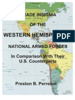 GRADE INSIGNIA OF THE WESTERN HEMISPHERE'S ARMED FORCES IN COMPARISON WITH THEIR U.S. COUNTERPARTS