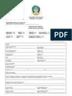 Angola Visa Application Form