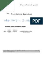 Planilla Para Procedimiento Operacional de Un SGA